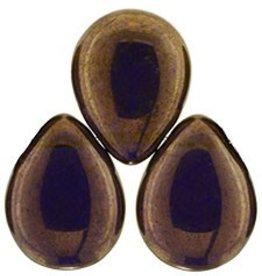 25 PC 12x16mm Pear Drops : Tanzanite Patina