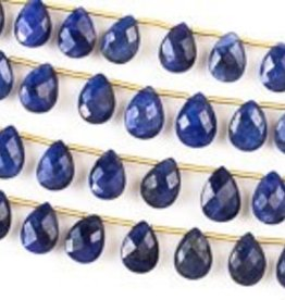 "8.5"" 7x10mm Faceted Briolette : Sapphire"