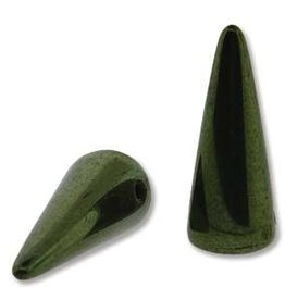 25 PC 5x13mm Spike : Jet Green