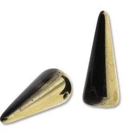 25 PC 5x13mm Spike : Jet Amber