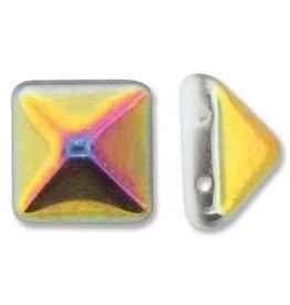 12 PC 12mm 2 Hole Pyramid : White Marea