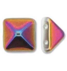 12 PC 12mm 2 Hole Pyramid : White Sliperit