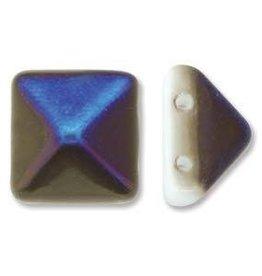 12 PC 12mm 2 Hole Pyramid : White Azuro