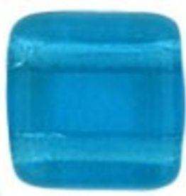 50 PC 6mm 2 Hole Tile : Capri Blue
