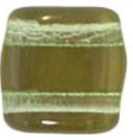 50 PC 6mm 2 Hole Tile : Peridot Twilight