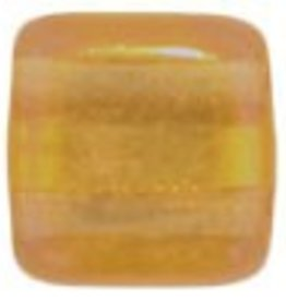 50 PC 6mm 2 Hole Tile : Gold Marbled Topaz