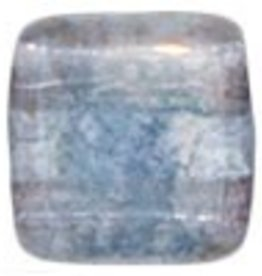 50 PC 6mm 2 Hole Tile : Crystal Moondust