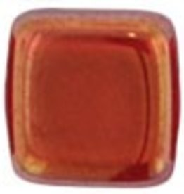 50 PC 6mm 2 Hole Tile : Siam Ruby Twilight