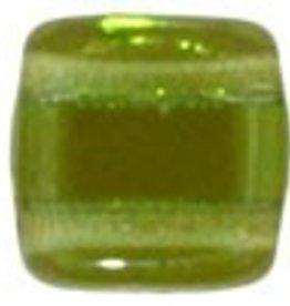 50 PC 6mm 2 Hole Tile : Prairie Green Celsian