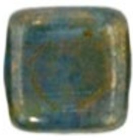 50 PC 6mm 2 Hole Tile : Teal Bronze Picasso