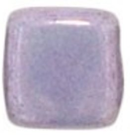50 PC 6mm 2 Hole Tile : Opaque Amethyst Luster