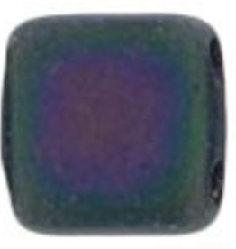 50 PC 6mm 2 Hole Tile : Matte Purple Iris
