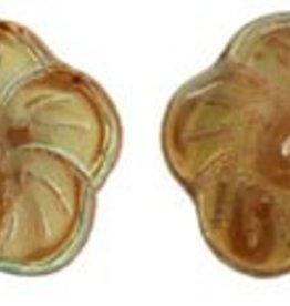 25 PC 12mm Pinwheel Flower : Crystal Celsian