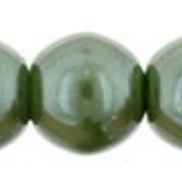 120 PC 4mm Round Glass Pearl : Sage Green
