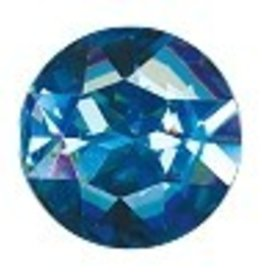 1 PC 27mm Swarovski Rivoli (1201) : Aqua Foil Back