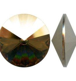 1 PC 18mm Swarovski Rivoli : Crystal Bronze Shade Foil Back