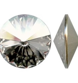 1 PC 16mm Swarovski Rivoli : Crystal Silver Shade Foil Back