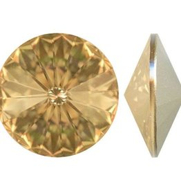 1 PC 16mm Swarovski Rivoli : Golden Shadow Foil Back