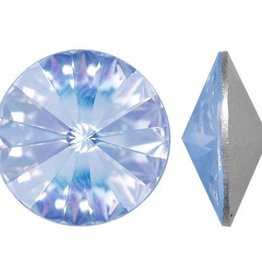 2 PC 12mm Swarovski Rivoli : Light Sapphire Foil Back