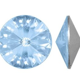 2 PC 12mm Swarovski Rivoli : Aquamarine Foil Back