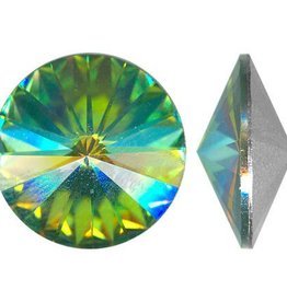 2 PC 12mm Swarovski Rivoli : Medium Vitrail Foil Back