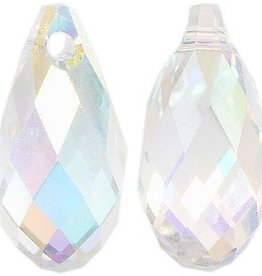 2 PC 13x6.5mm Swarovski Briolette : Crystal AB