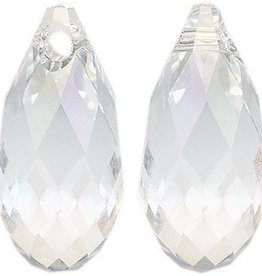 2 PC 13x6.5mm Swarovski Briolette : Crystal