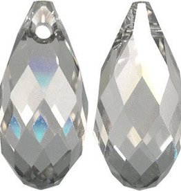 2 PC 13x6.5mm Swarovski Briolette : Silver Shade