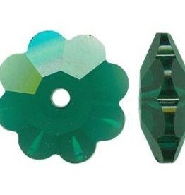 12 PC 8mm Swarovski Marguerite : Emerald