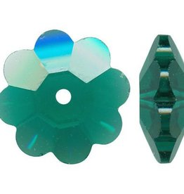 6 PC 12mm Swarovski Marguerite : Emerald