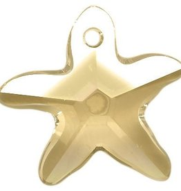 1 PC 17x16mm Swarovski Starfish : Golden Shadow