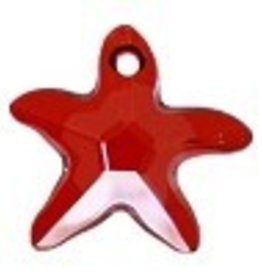 1 PC 17x16mm Swarovski Starfish : Red Magma