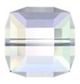 1 PC 10mm Swarovski Cube : Crystal AB