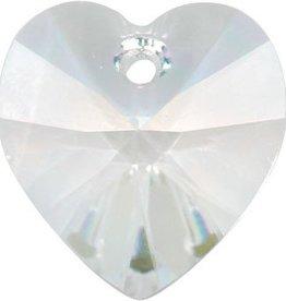 1 PC 14mm Swarovski Heart Pendant : Crystal