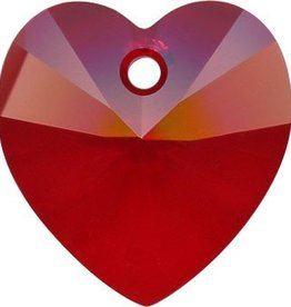 1 PC 14mm Swarovski Heart Pendant (6228) : Siam