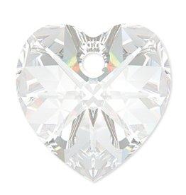 2 PC 10mm Swarovski Heart Pendant : Crystal