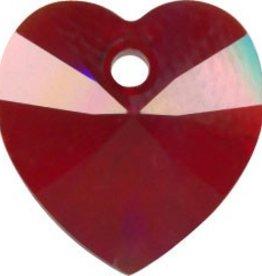 2 PC 10mm Swarovski Heart Pendant : Siam