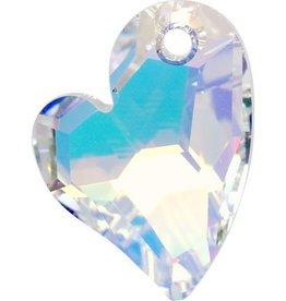 1 PC 17mm Swarovski Devoted Heart Pendant : Crystal AB