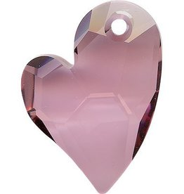 1 PC 17mm Swarovski Devoted Heart Pendant (6261) : Antique Pink