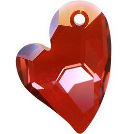 1 PC 27mm Swarovski Devoted Heart Pendant : Red Magma
