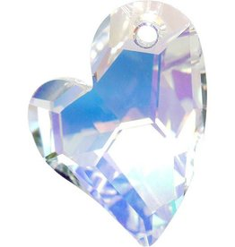 1 PC 36mm Swarovski Devoted Heart Pendant : Crystal AB