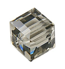 4 PC 4mm Swarovski Cube : Black Diamond