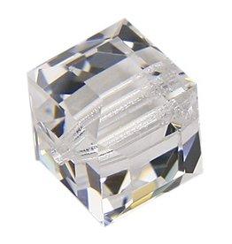 4 PC 4mm Swarovski Cube : Crystal