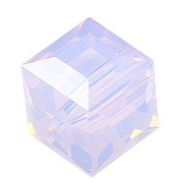 4 PC 4mm Swarovski Cube : Violet Opal