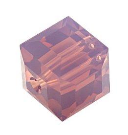 4 PC 4mm Swarovski Cube : Cyclamen Opal