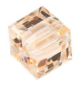 4 PC 6mm Swarovski Cube : Silk