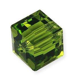 4 PC 8mm Swarovski Cube : Olivine
