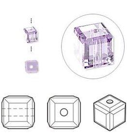 4 PC 8mm Swarovski Cube : Violet