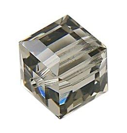 4 PC 8mm Swarovski Cube : Black Diamond