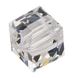 4 PC 8mm Swarovski Cube : Crystal
